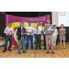 Les élus, le Pays Voironnais et Antoine Dénériaz à la remise des prix Inosport 2015 - Crédit Photo Samuel Moraud